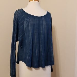 Cloth & Stone Blue Long Sleeve Top, S